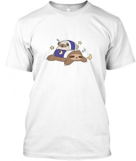 Sleeping Sloth Unisex T Shirt