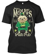 Unisex Irish St Paddys Pug T Shirt