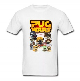 White Unisex Star Wars Character T Shirt Size Large Slim Fit