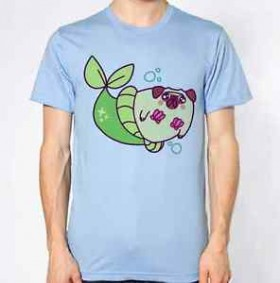 Under the Sea Unisex Pug T Shirt