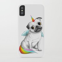 Cute Pug Unicorn iPhone Cover  (For various models)