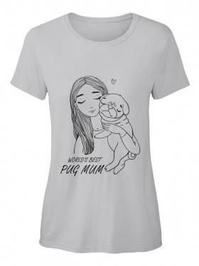 Funny Ladies Pug T Shirt