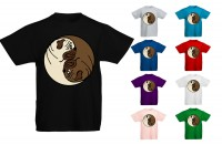 Kids Ying Yang Pug T Shirt (Available in 9 colours)