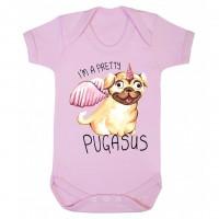 Pink Pretty Pugasus Baby Vest (Newborn -18 months)