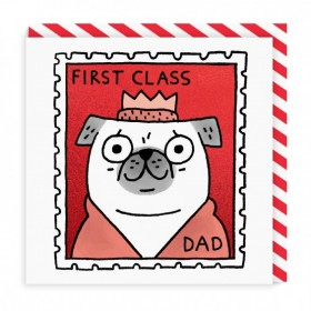 1st Class Dad Card By Gemma Correll