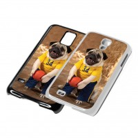 Basket Ball Pug Phone Cover (For various models & In Black or White)
