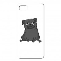 Cute Black Pug Phone Cover (For iPhone & Galaxy Samsung)