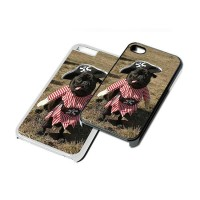 Black Pirate Pug Phone Cover (For various models & In Black or White)