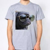 Unisex Cool Black Pug T Shirt