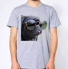 Unisex Cool Black Pug T Shirt