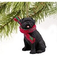 Black Pug Christmas Decoration