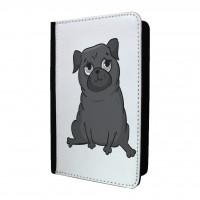 Black Pug Passport Holder