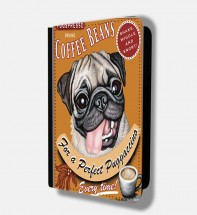 Coffee Beans Pug Passport Holder