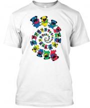 Dancing Pugs Multi Unisex T Shirt