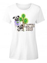 Earth Day Ladies Pug T Shirt