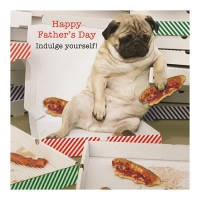Funny Pug Fathers Day Card