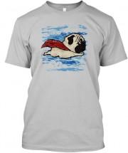 Flying Superhero Pug Unisex T Shirt
