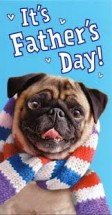 Pug Fathers Day Card