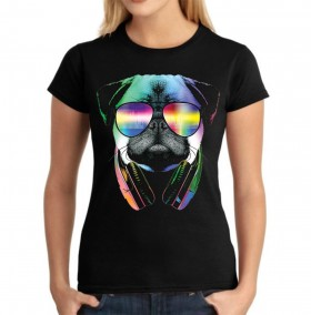 Ladies Cool Pug T Shirt