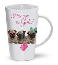 Pug Puppies Latte Mug