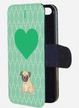 I love Pug Green Phone case (For iPhone & Samsung models)