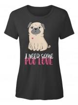 Ladies Cute Pug T Shirt