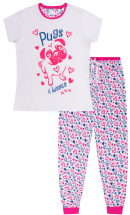 Cute Pug Teen Pj Set