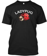 Unisex Pug Ladybird T Shirt