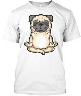 Unisex Meditating Pug T Shirt