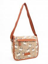 Pug Patterned Messenger Bag