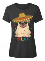 Ole Ladies Pug T Shirt
