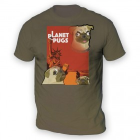 Unisex Planet Of The Pugs T Shirt (Available in 6 colours)