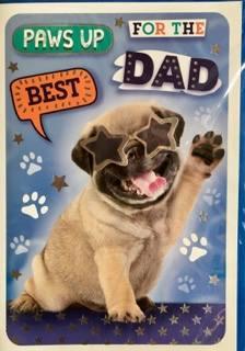 Cute Pug Fathers Day Card