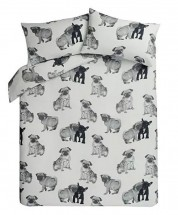 Cute Pug & Frenchie Single Duvet Set