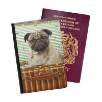 Cute Pug Passport Holder