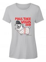 Ladies Pugs Take Vegas T Shirt By Gemma Correll