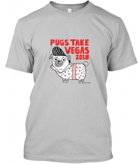 Unisex Pugs Take Vegas Gemma Correll T Shirt