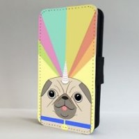 Rainbow Pug Unicorn iPhone & Samsung Galaxy case