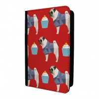 Red Pug Passport Holder