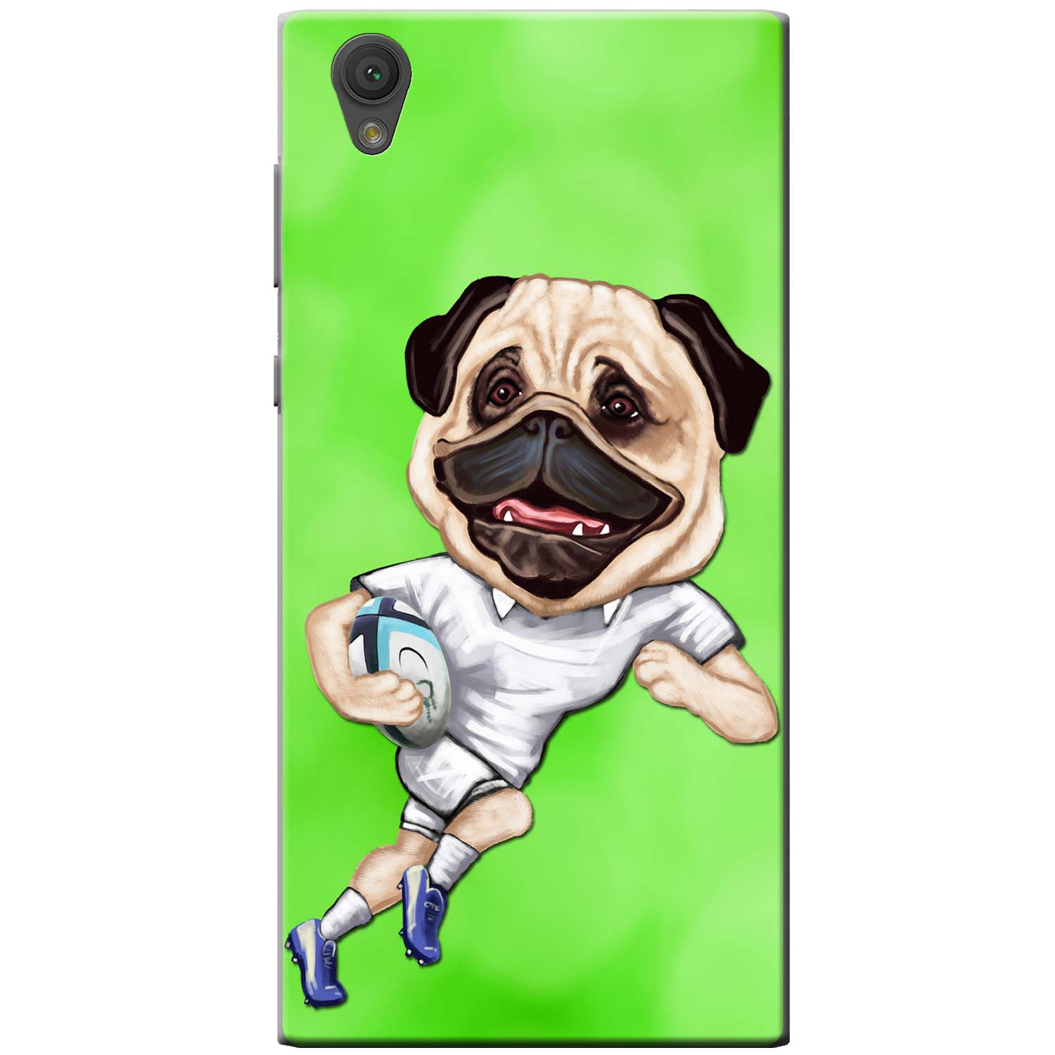8441a65ef1746 England Rugby Pug iPhone Cover (For all models)