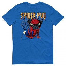 Spider Pug Unisex T Shirt (Available in 7 colours)