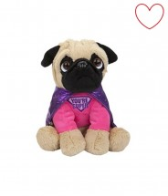 Super Girl Pug Soft Toy