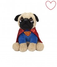 Superhero Pug Soft Toy