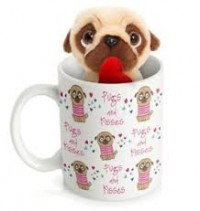 Cute Pug Teddy & Mug Set