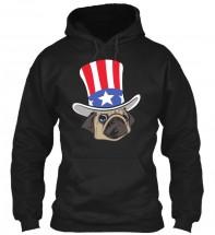 Uncle Sam Unisex Pug Hoodie
