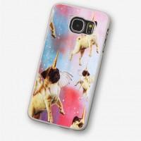 Flying Unicorn Pug Samsung Cover (For various models )