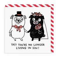 Funny Pug Wedding Card By Gemma Correll