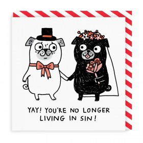 Funny Pug Wedding Card By Gemma Correll