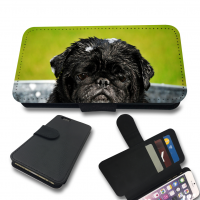 Cute Black Pug Phone Case (For various models iPhone/Galaxy)