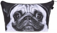 Cute Pug Black & White Style Makeup Bag